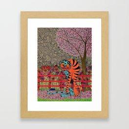 Folk Tiger Too Framed Art Print