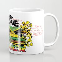 jamaica Mugs featuring Jamaica by Tshirt-Factory
