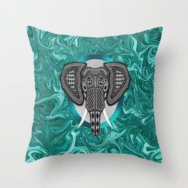 Aztec Elephant Tusk's of Grandeur Throw Pillow