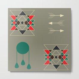 dream-catcher gray Metal Print