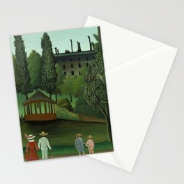 """Henri Rousseau """"View of Montsouris Park, the Kiosk"""" Stationery Cards"""