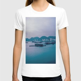 Calm Waters in the Misty Ha Long Bay. Travel Photography. T-shirt