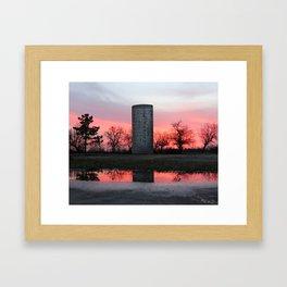 Pink Silo Sunset Framed Art Print