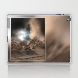 Heavy Duty Earthworks During An Eclipse Laptop & iPad Skin