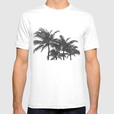 Simple palm trees Mens Fitted Tee White MEDIUM
