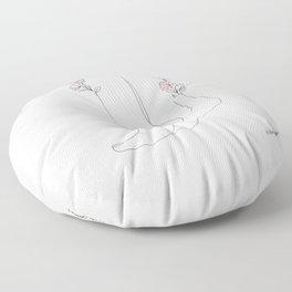 Taking Baby Steps Floor Pillow