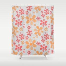 Enzo flower pattern Shower Curtain