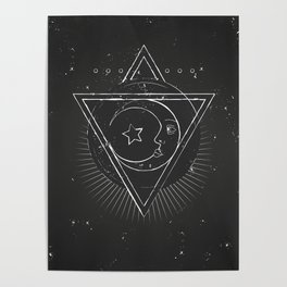 Mysterious moon Poster