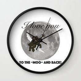 To The Moo And Back Wall Clock