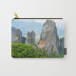 Christian Orthodox monastery of Meteora, Greece Carry-All Pouch