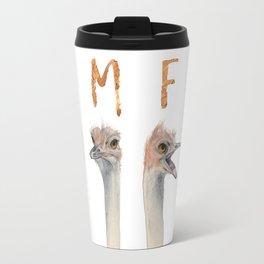 OMFG Ostriches Travel Mug