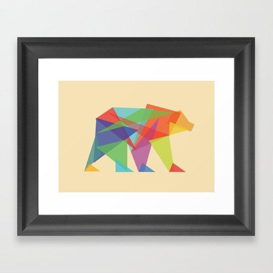 Fractal Geometric bear Framed Art Print