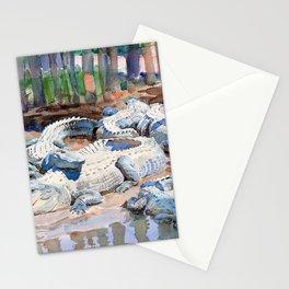 12,000pixel-500dpi - John Singer Sargent - Muddy Alligators - Digital Remastered Edition Stationery Cards