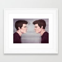 stiles Framed Art Prints featuring Stiles by ribkaDory