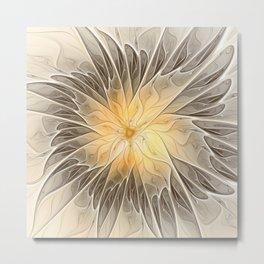 Floral Dream, Abstract Fractal Art Metal Print