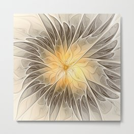 Floral Dream, Abstract Fractal Art Metal Print