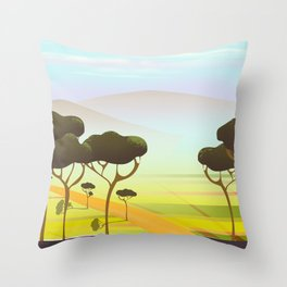 Siracusa Italy travel poster Throw Pillow