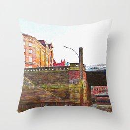 Hamburg Bridges Throw Pillow