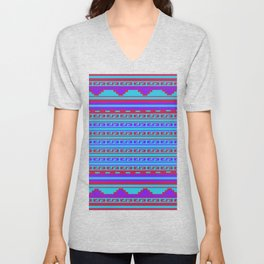 Mexican Aztec ethnic pattern Unisex V-Neck