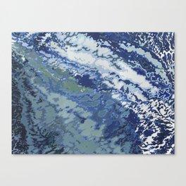 Deep Blue Ocean Wake Canvas Print