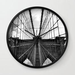 Brooklyn Bridge Old School Wall Clock