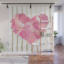 Je t'aime Light Pink Wall Mural