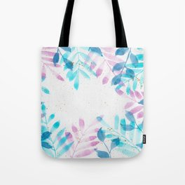 Leaf border watercolor painting Tote Bag