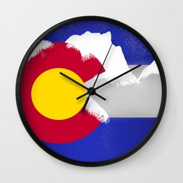 Colorado Winter Flag Wall Clock