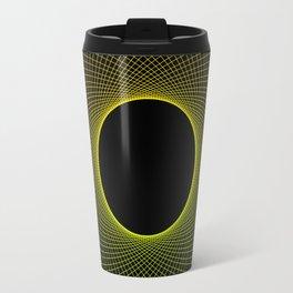 Lemon Vortex Yellow Travel Mug