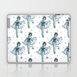 Black Widow Burlesque Doll Laptop & iPad Skin
