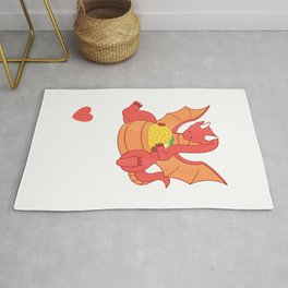 Dragons Love Tacos Shirt Kids Dragon Lovers Gifts Rug
