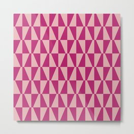 Mid Century Modern Geometric 315 Magenta and Pink Metal Print