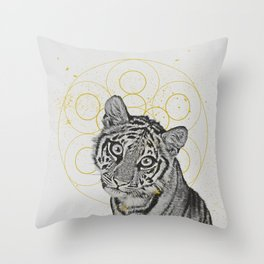 sketchy tiger Throw Pillow