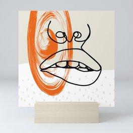 should I line art Mini Art Print