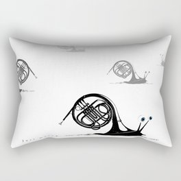 Just moved.  (French Horn) Rectangular Pillow