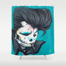 SLICK paint Shower Curtain