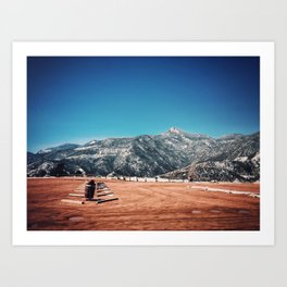 Parking Lot in the Rocky Mountains Art Print