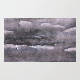 Gray nebulous wash drawing painting Rug