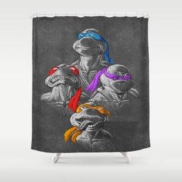 THE BROTHERHOOD - B&W Shower Curtain