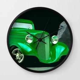 Neon Green Custom Classic Roadster Wall Clock