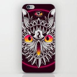 Retrowave Owl iPhone Skin
