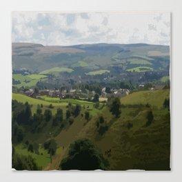 Rochdale Hilltop view Canvas Print