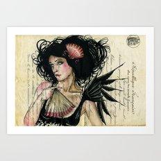 The French Fan Art Print