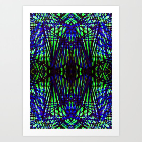 Blue jungle Art Print