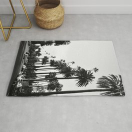 Los Angeles Black and White Rug
