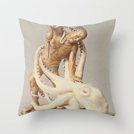 Ogawa Kazumasa - Wood Carving Throw Pillow