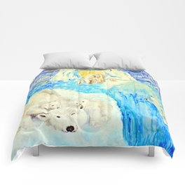 Polar Bears Trying to Survive Comforters