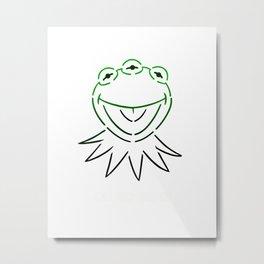 Monsanto Kermit Says...(w) Metal Print