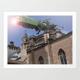 Albator in Cahors Art Print