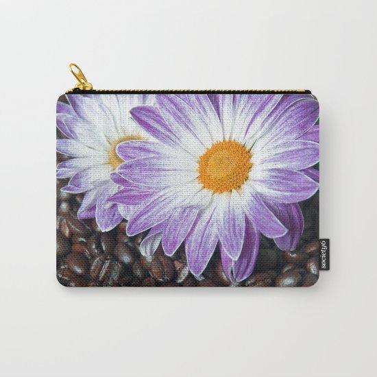 COFFEE & VIOLET DAISY  Carry-All Pouch